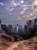 Himalaya hills view. View of the Himalayan hills and the cloudy sky Royalty Free Stock Photos