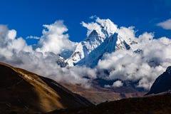 Himalaya Inspirational Landscape, Ama Dablam Mountain in Nepal Stock Photography