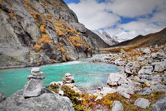 Himalaya Mountains Landscape Nepal Stock Image