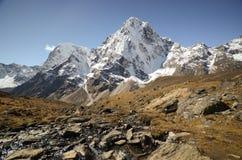 Himalaya landscape Nepal. Himalaya peaks along the Everest base camp trail Stock Photography