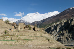 Himalaya - Manang village Stock Photography