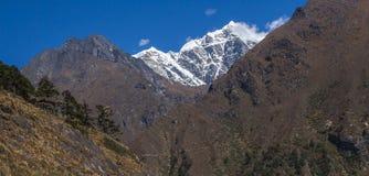 Himalaya. MONG LA, NEPAL - CIRCA OCTOBER 2013: view of the Himalayas on the way to Phortse Thang circa October 2013 in Mong La Royalty Free Stock Image