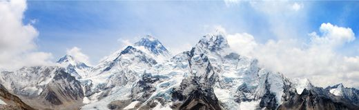 Himalaya, Mount Everest with beautiful sky Royalty Free Stock Image