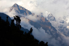 Himalaya mountain landscape, Nepal Stock Photo
