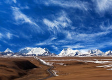 Himalaya mountain landscape in Ngari, Western Tibet Royalty Free Stock Photo