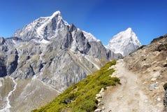 Himalaya Mountain Landscape. Himalaya Mountain Range - High peaks on trek to Mt. Everest. Himalayas landscape. Nepal stock photos