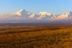 Himalaya Mountain Landscape. The Tibetan Plateau Stock Photo