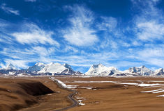 Himalaya Mountain landscape in Tibet Autonomous Region of China Royalty Free Stock Image