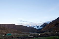 Himalaya mountain landscape at twilight Royalty Free Stock Photography