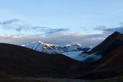 Himalaya mountain landscape at twilight, Nepal Stock Photo