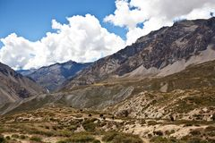 Himalaya mountain landscape in Upper Mustang Royalty Free Stock Images