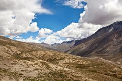 Himalaya mountain landscape in Upper Mustang Stock Images