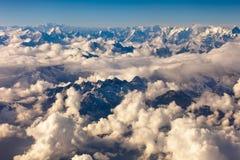 Himalaya mountain- nepal. Aerial view of the himalaya mountain range stock photography