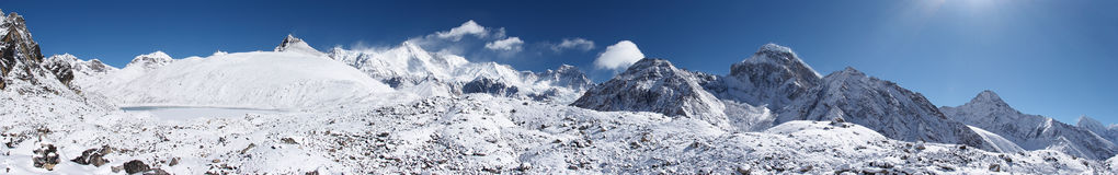 Himalaya mountain panorama, Nepal Royalty Free Stock Photography