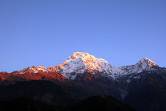 the Himalaya mountain peak Royalty Free Stock Photography