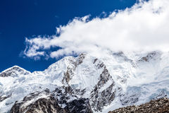 Himalaya mountain peaks autumn landscape Stock Image