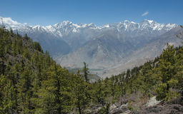 Himalaya mountain range. Annapurna region. Nepal Stock Images