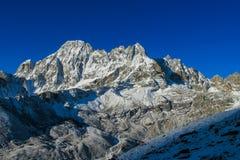 Himalaya mountain summit with snow glacier on top Stock Image