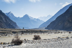 Himalaya mountains during clear day Royalty Free Stock Photos