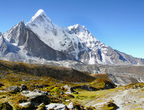 Himalaya Mountains. In the Everest Region stock image