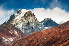 Himalaya mountains in Everest region, Nepal. Himalaya mountains at altitude of 4500 m. Khumbu valley, Everest region, Nepal. Autumn landscape royalty free stock images