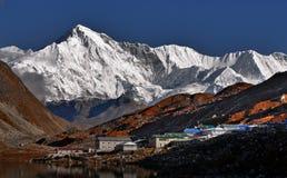 Himalaya Mountains Nepal. Himalaya Mountains Landscape. Gokyo village, Everest Region, Nepal stock images