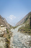 Himalaya mountains during hot Stock Image