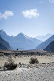 Himalaya mountains with lonley tree Stock Photos