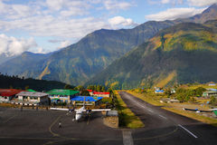 Himalaya Mountains Lukla Airport Nepal Stock Image