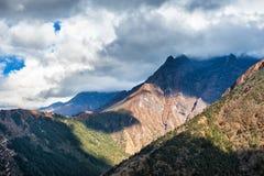 Himalaya mountains, Nepal. Tengboche village on the way to Everest Base Camp stock photography