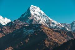 Himalaya mountains, Nepal. Himalaya mountains at sunrise, Nepal royalty free stock image