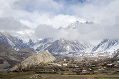 Himalaya mountains panorama Royalty Free Stock Photography
