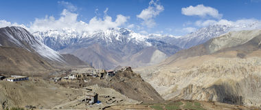 Himalaya mountains panorama Stock Photos