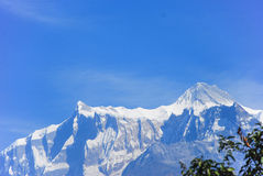 Himalaya Mountains. Photo of high peaks of the Himalaya mountains Stock Images