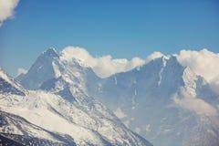 Himalaya. Mountains in Sagarmatha region, Himalaya stock image