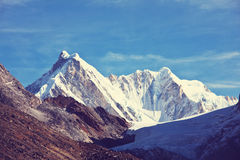Himalaya. Mountains in Sagarmatha region, Himalaya royalty free stock image