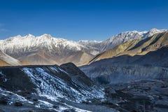 Himalaya mountains during sundown Royalty Free Stock Photos