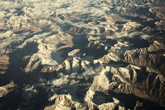 Himalaya mountains under clouds. Leh Ladakh India Royalty Free Stock Image