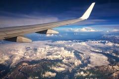 Himalaya mountains under clouds Royalty Free Stock Image
