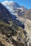 Himalaya nepalés Glaciar de Gangapurna Foto de archivo libre de regalías