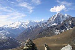 himalaya nepal toppmöten Arkivbilder