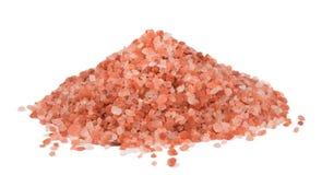Himalaya Pink Salt. Isolated on white background royalty free stock photos