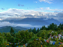 Himalaya from Poon Hill, Nepal royalty free stock images