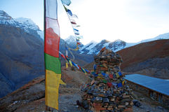 Himalaya prayer flags Stock Images