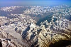 Himalaya Range. Himalaya mountains, bird eye view, India Stock Photo