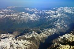 Himalaya Range. Himalaya mountains, bird eye view, India Stock Photography