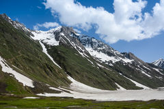 Himalaya range in spring. When the snow melt at Jammu&Kashmir State, India royalty free stock photo
