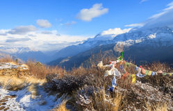 Himalaya range view from Poonhill ,Nepal Royalty Free Stock Image