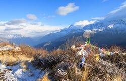 Himalaya range view from Poonhill ,Nepal Royalty Free Stock Image