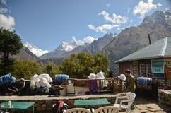 Himalaya rest stop Stock Image